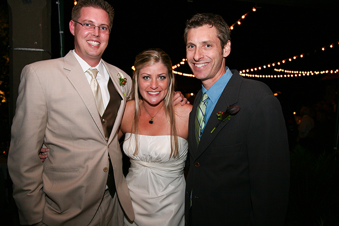 MC Scott Topper with Bride and Groom
