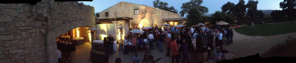 Sunstone Winery LED Amber Uplighting