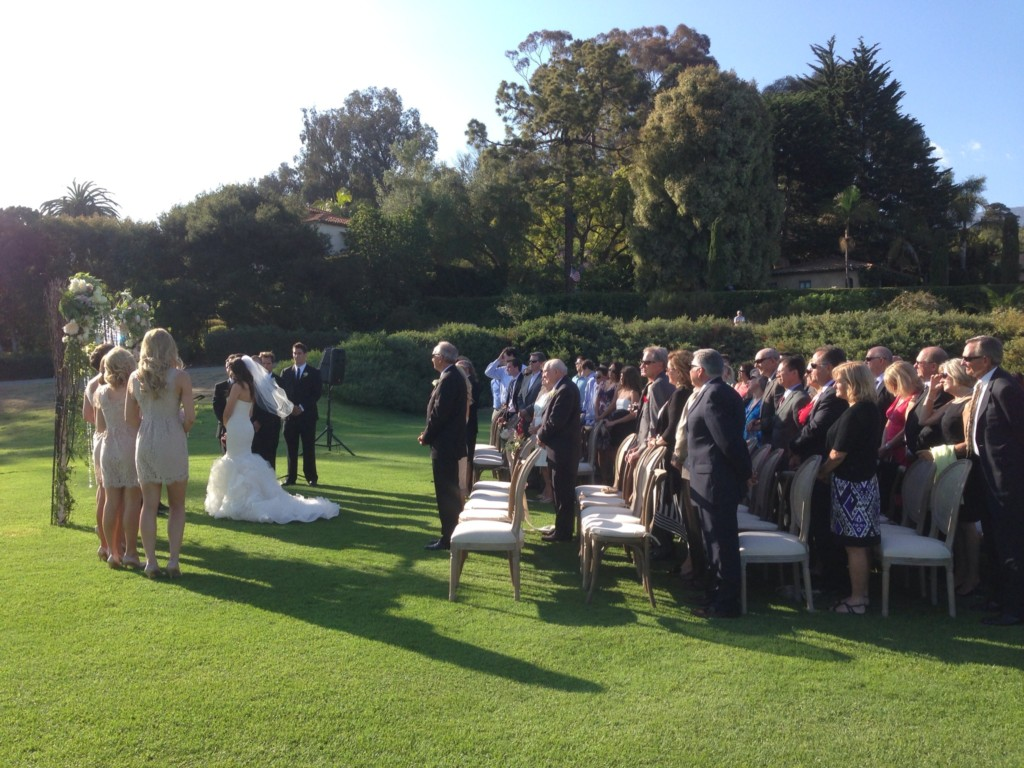 Wedding Ceremony on Lawn